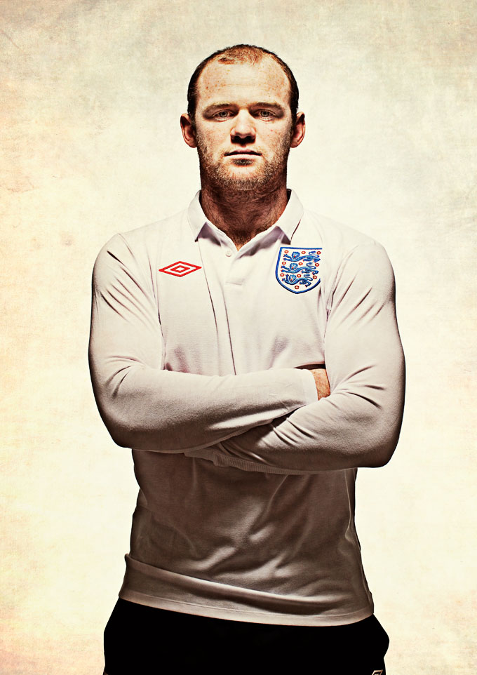 wayne rooney makeup. Wayne Rooney photographed by