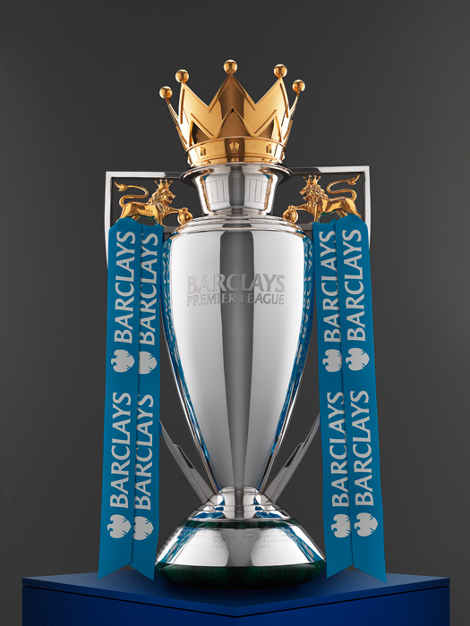 Premiership Trophy, Advertising Retouching by John Deaville, photographed by Ranald Mackechnie