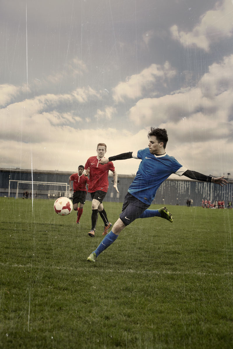 Photo Retouching for Football Association Love Football Campaign