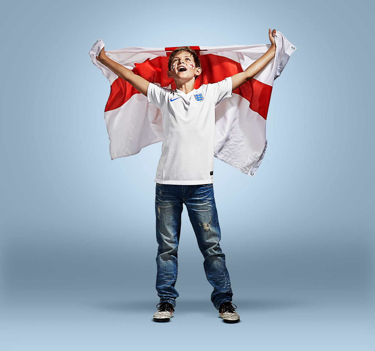 Together for England, People Photographic Retouching Sample
